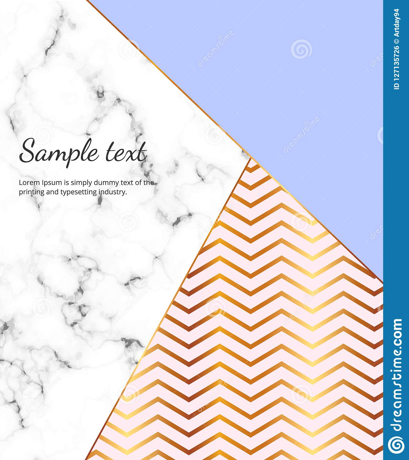 Geometric Design Poster With Gold Lines Blue And Pink Colors And Marble Texture Background Template For Design Invitation Card Stock Illustration Illustration Of Pastel Graphic 127135726