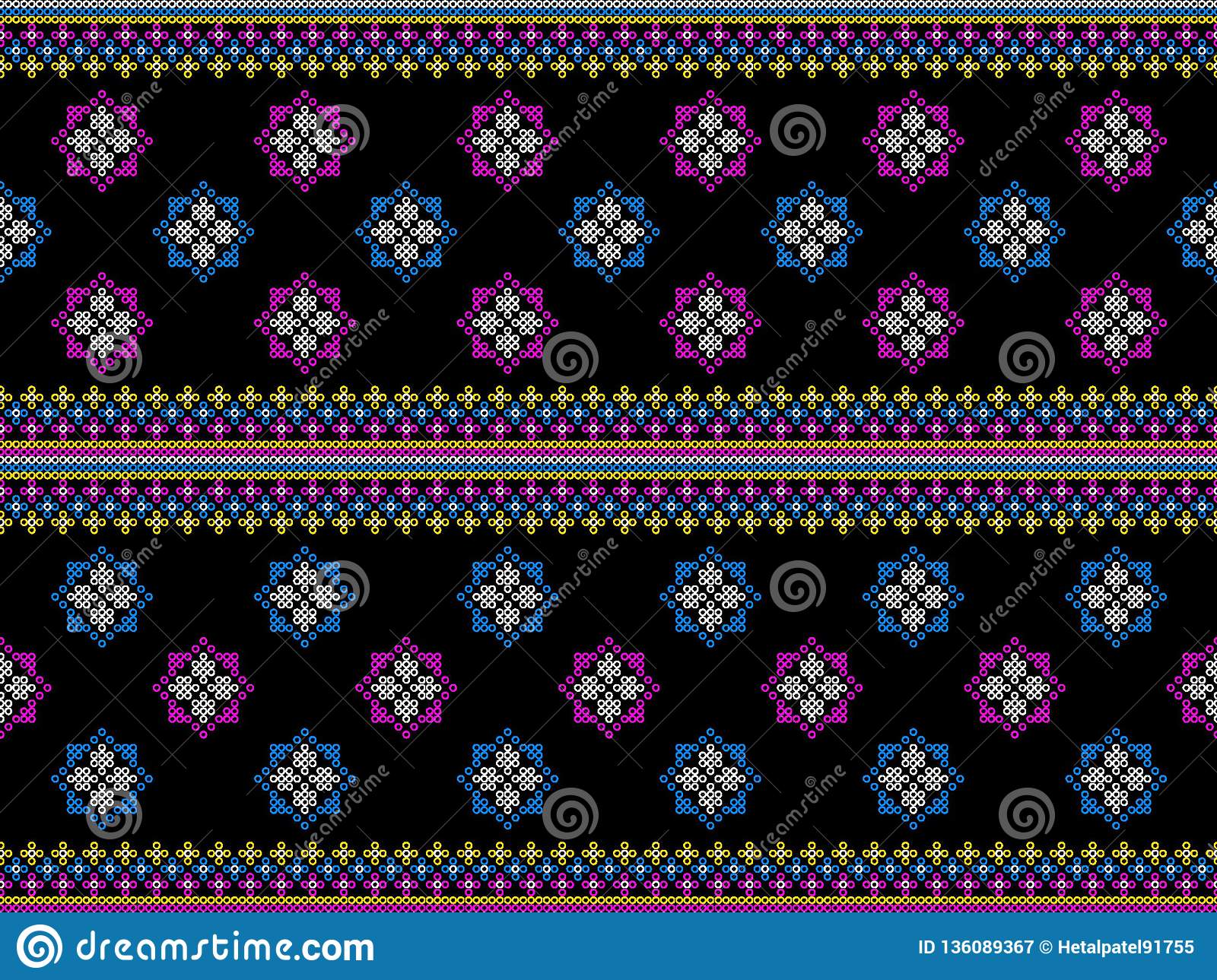 Geometric ethnic oriental ikat pattern traditional Design for background carpet wallpaper clothing