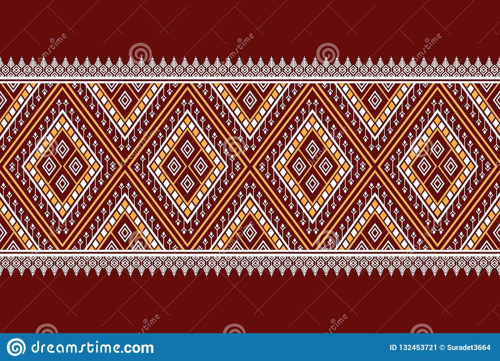 Geometric Ethnic Pattern Traditional Design For Background Carpet Wallpaper Clothing Wrapping Batik Fabric Sarong Vector Illustrat Stock Illustration Illustration Of Geometrical Decorative 132453721