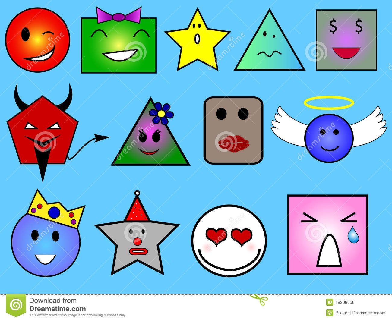 Geometric Faces Royalty Free Stock Photos Image 18208058