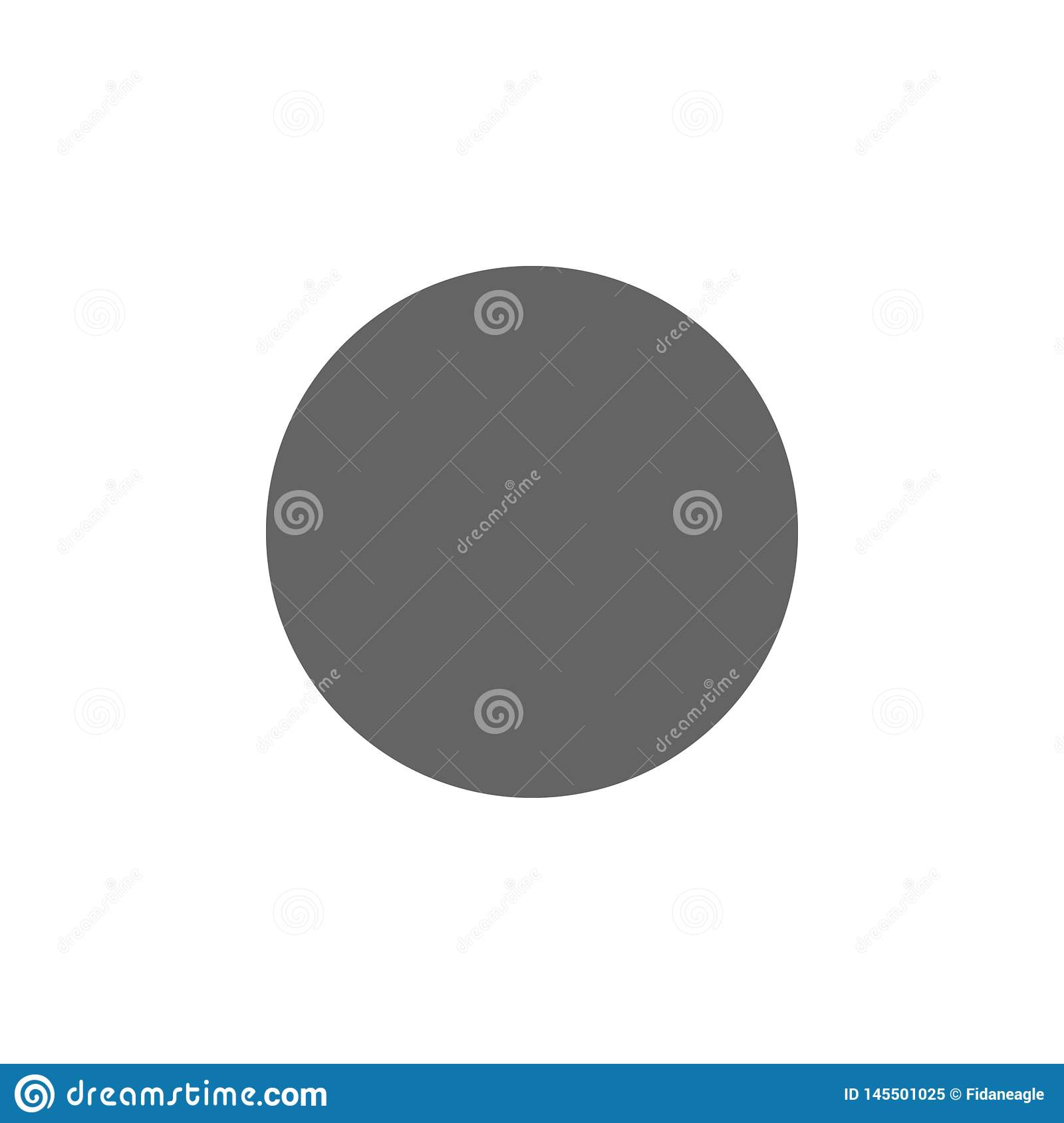Geometric figures, circle icon. Elements of geometric figures illustration icon. Signs and symbols can be used for web, logo,