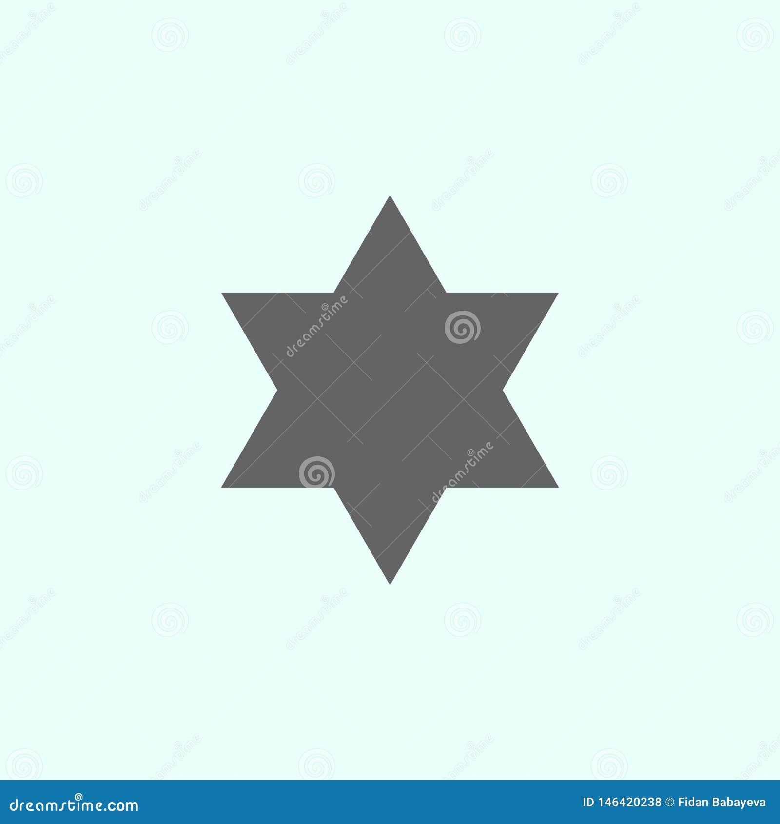 Geometric Figures, Hexagram Icon. Elements Of Geometric