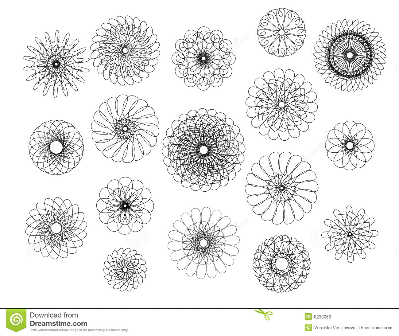 geometric flowers stock vector  image of decor  repeat
