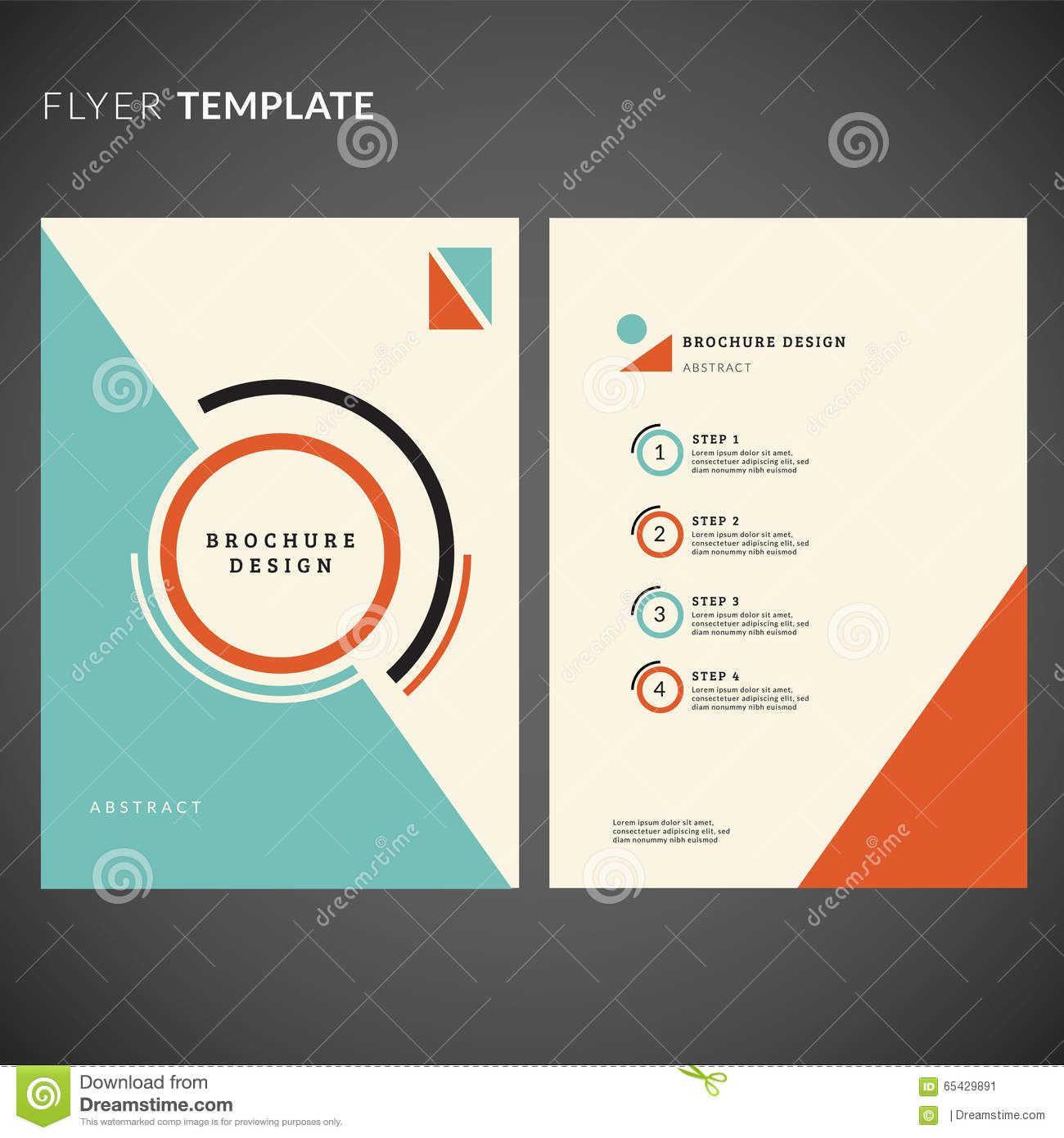 Geometric Flyer Template | Geometric Flyer Design Flyer Template Stock Vector Illustration