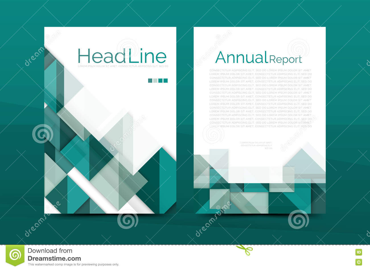 Geometric a4 front page business annual report print template stock geometric a4 front page business annual report print template maxwellsz