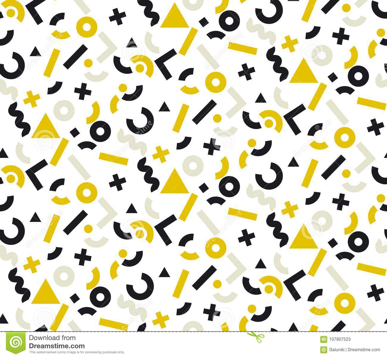 Geometric Gold And Black Motif For Fashion Wallpaper