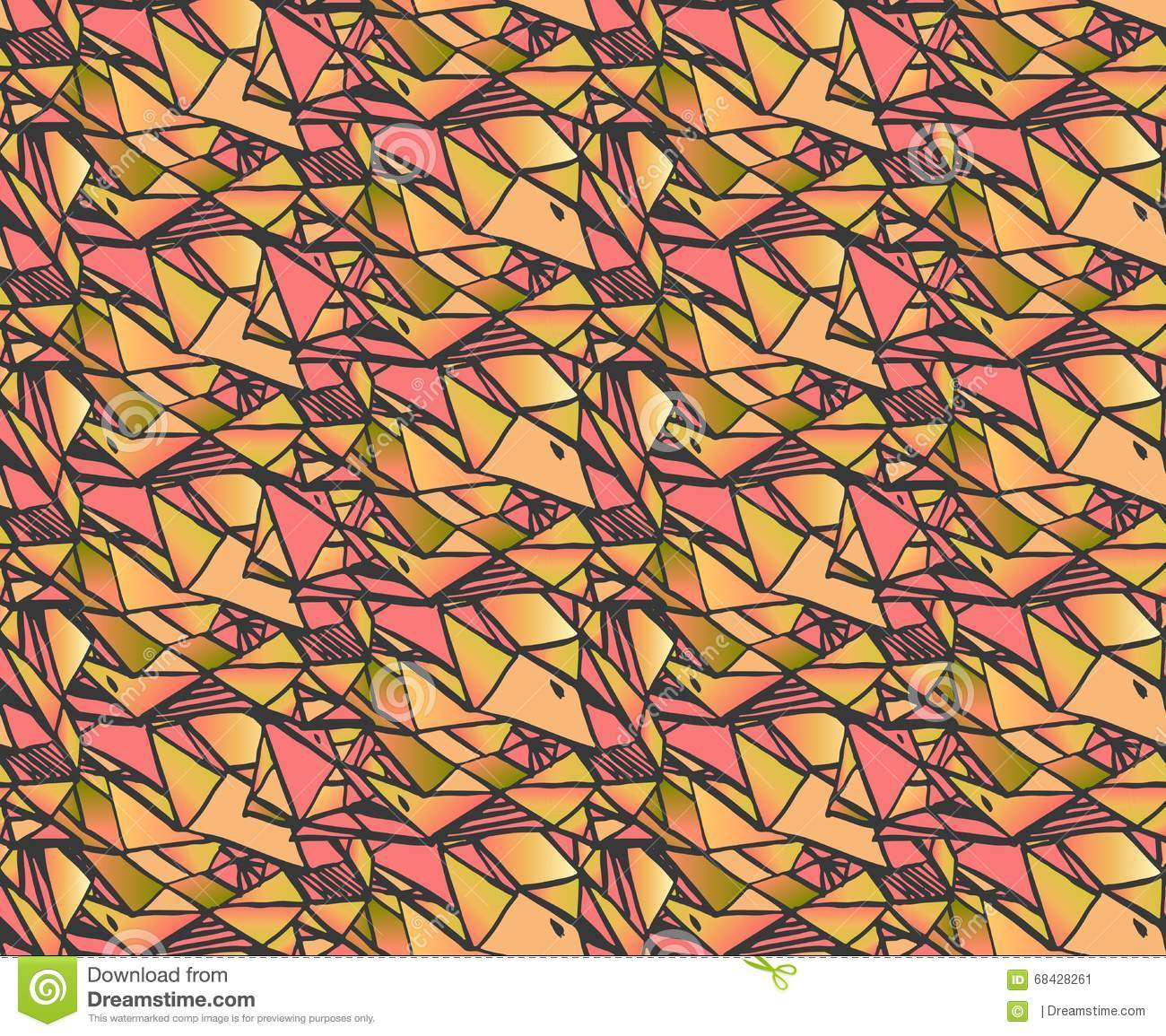 Geometric gradient hand draw ink patterns colorful for How to draw mosaic patterns