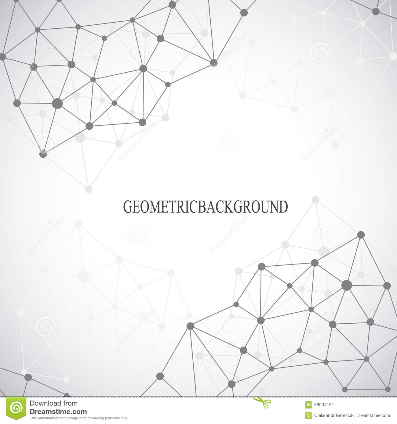 Drawing With Lines And Dots : Geometric grey background molecule and communication