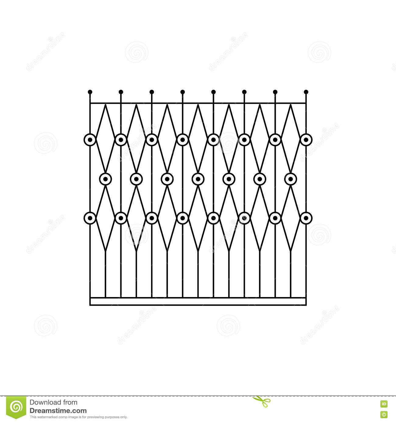 Geometric Grid Fencing Design Stock Vector - Illustration of ...