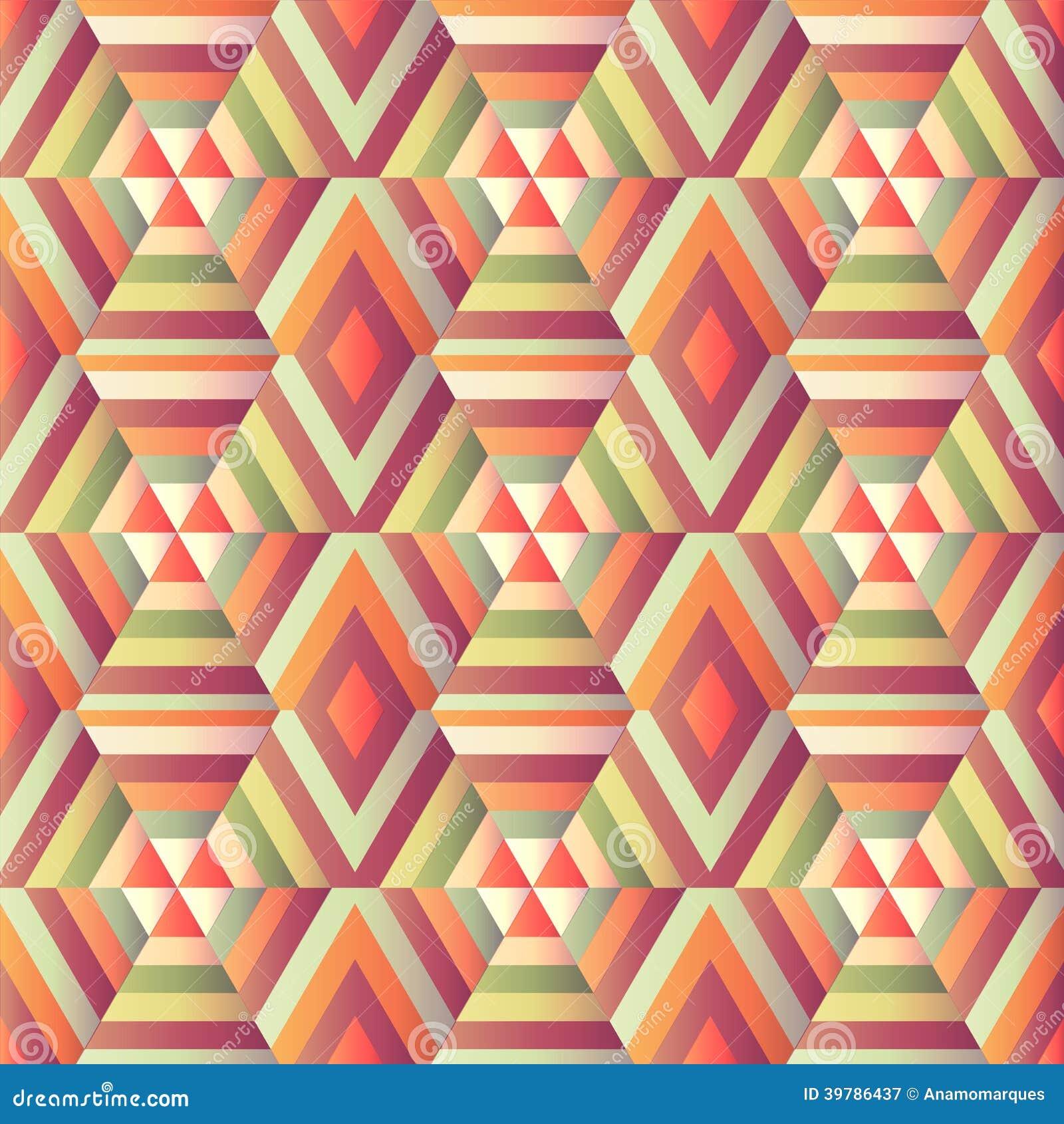Geometric hexagon op illusion stock vector image 39786437 for Geometric illusion art