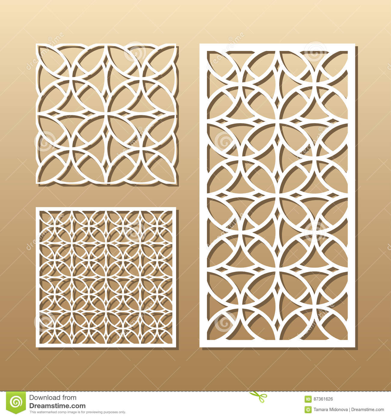 Geometric Laser Cutting Stock Vector Illustration Of Lace
