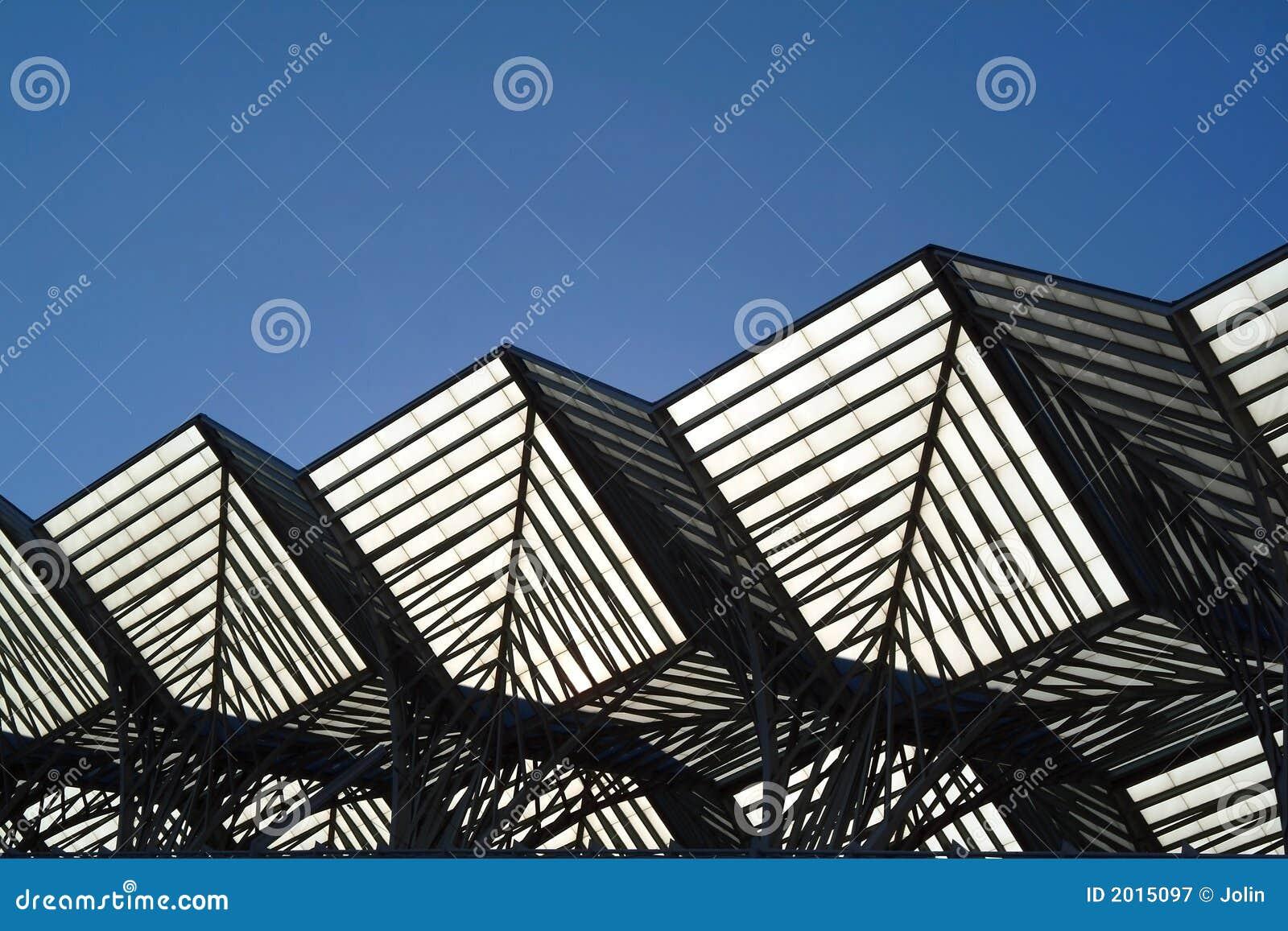 Geometric Metallic Building Stock Image Image 2015097