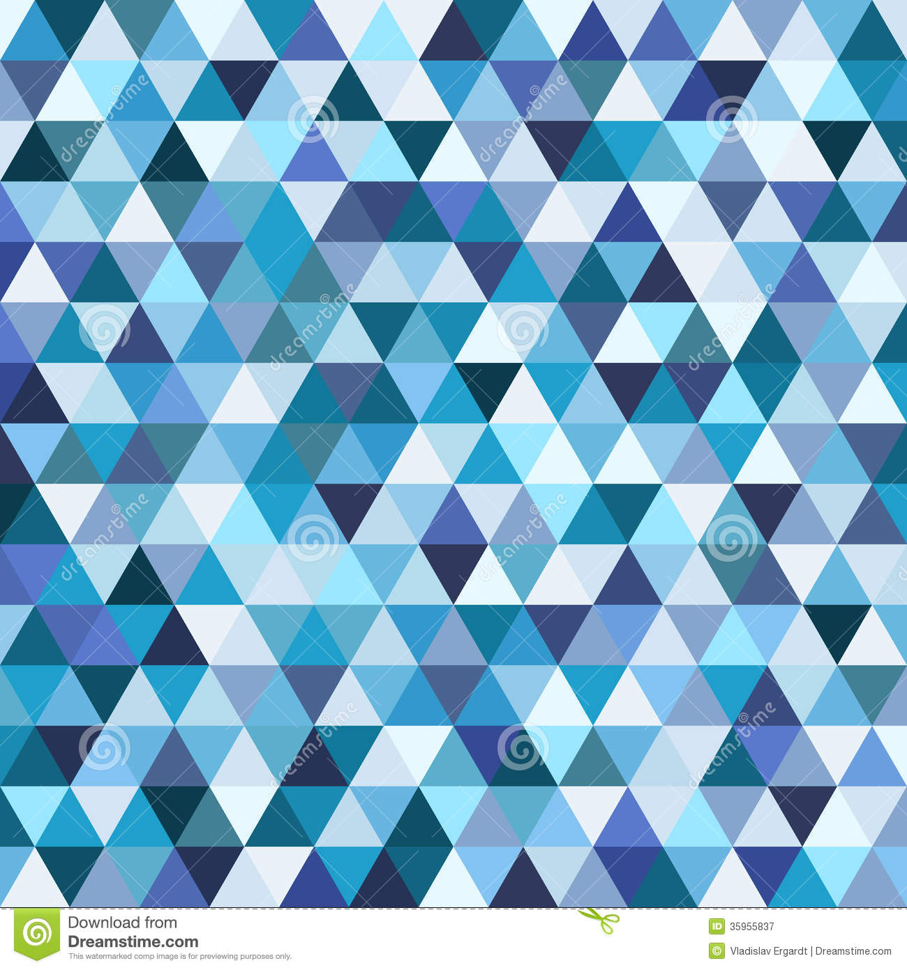 Geometric Mosaic Pattern From Blue Triangle Royalty Free ...