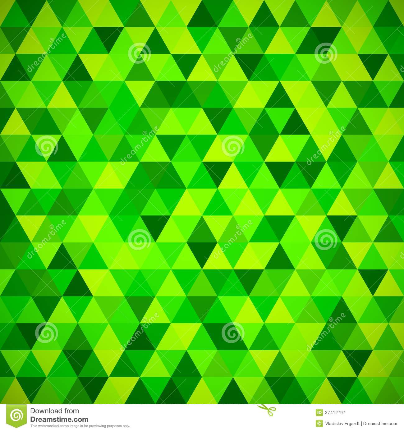 Geometric Mosaic Pattern From Blue Triangle Royalty Free