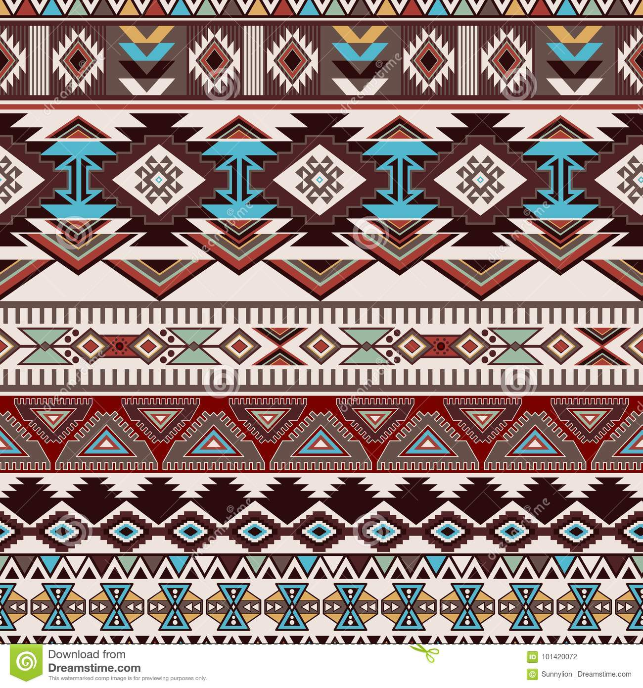 Geometric ornament for ceramics, wallpaper, textile, web, cards. Ethnic pattern. Border ornament. Native american design. Mexican motif Aztec ornament