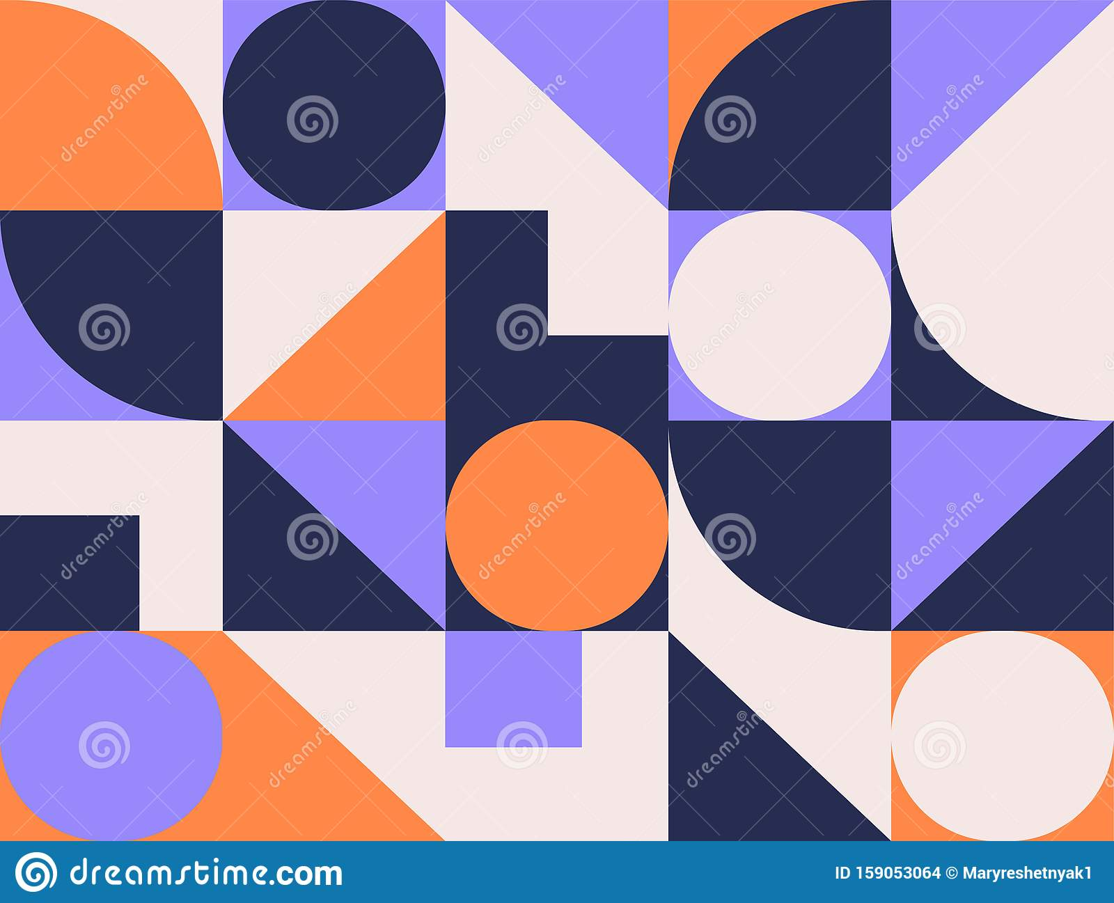 Geometric pattern background with square, geometry round, triangle. Abstract creative color geometric shape. 3d geometry pattern.