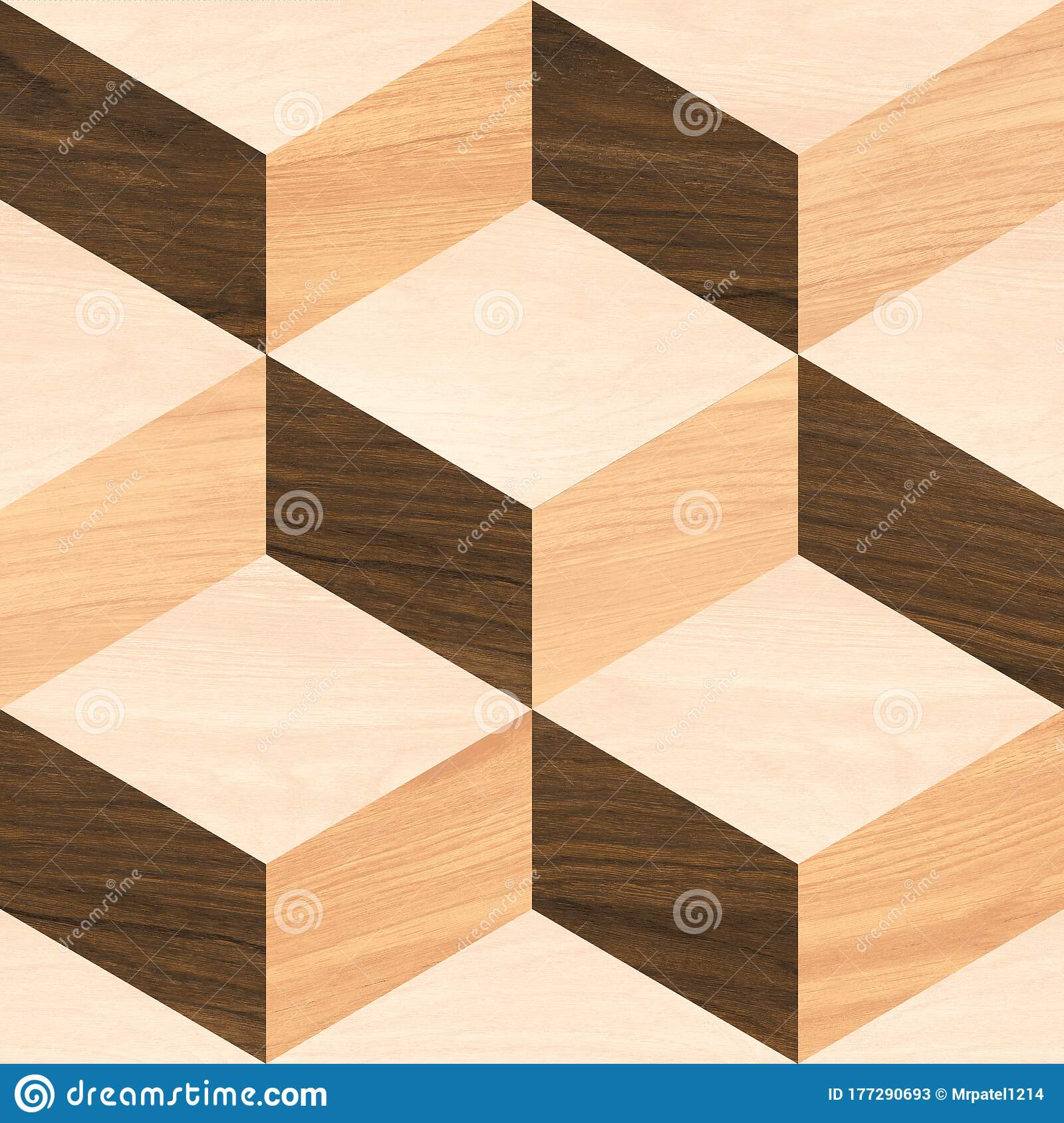 Geometric Pattern Floor And Wall Decor Wooden Tile Stock Image ...