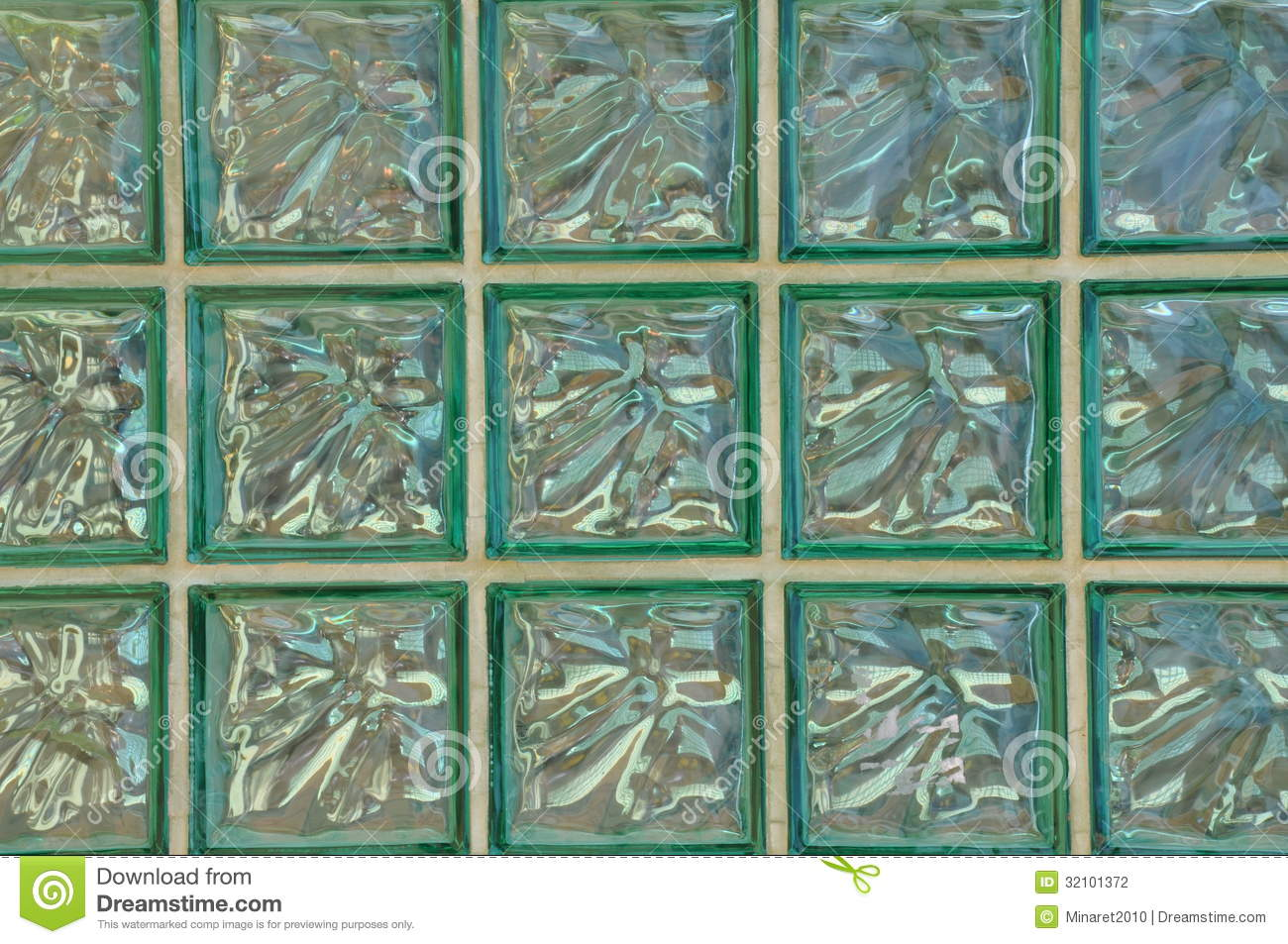 Geometric pattern of glass block wall stock photography for Glass block options