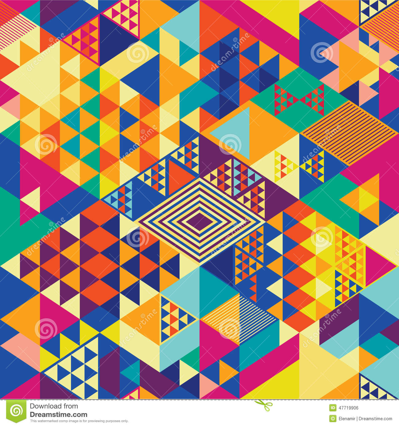 Geometric Pattern Pop Art Stock Vector - Image: 47719906
