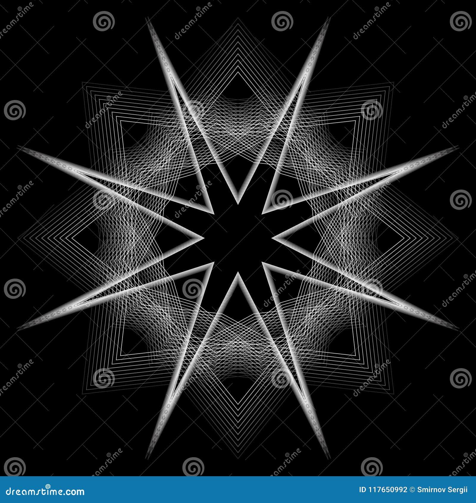 Geometric Pattern Icon Star Astrology Pentagram Symbol Stock