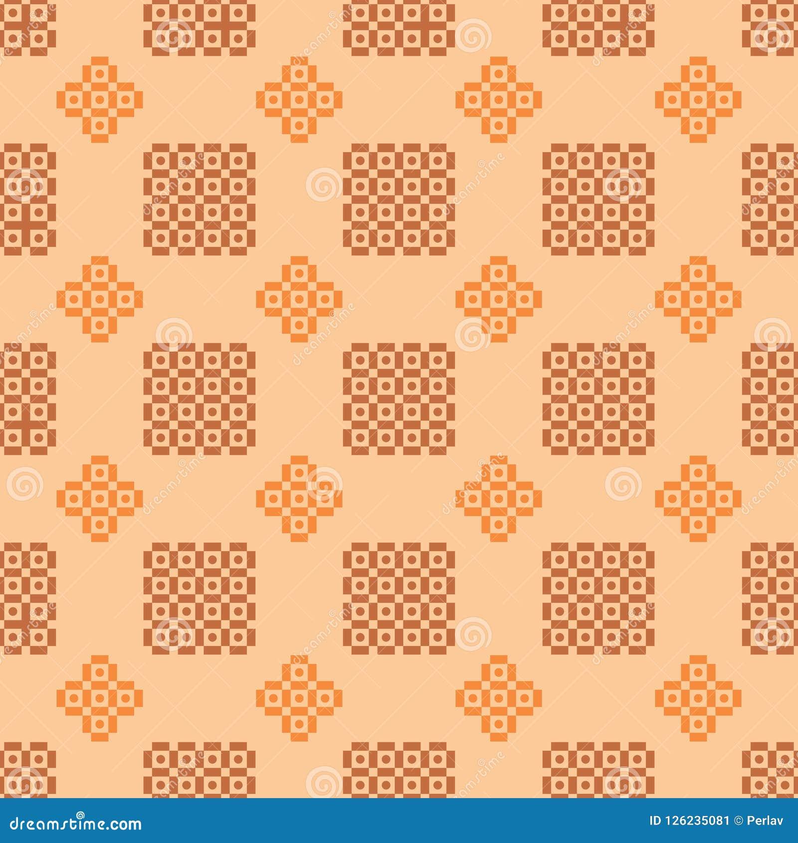 Geometric pattern in warm colours