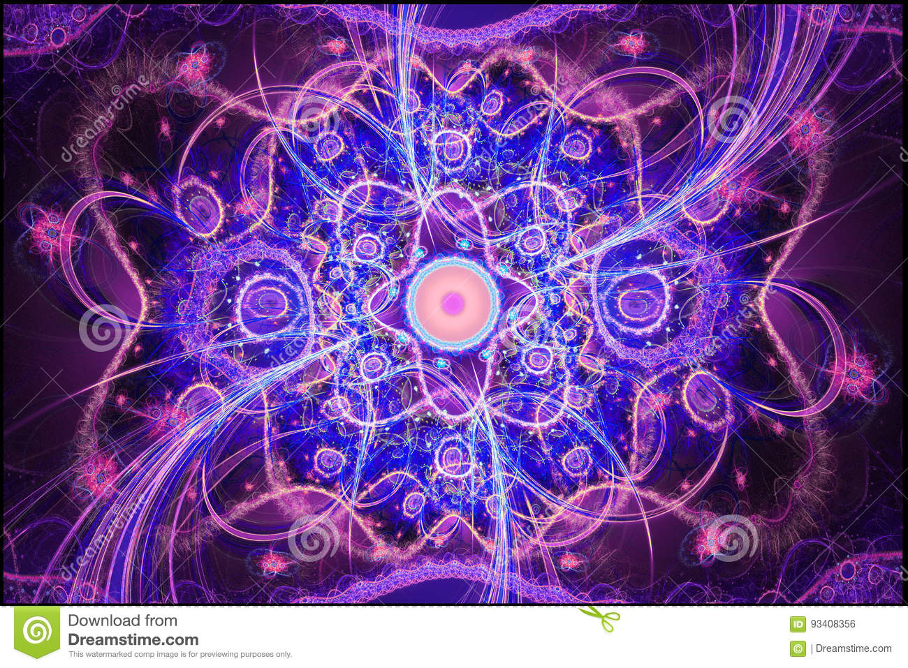 Download Geometric Patterns Can Illustrate Daydreaming Imagination Psychedelic Space Dreams And Magic Universe. Stock Photo - Image of artsy, bright: 93408356