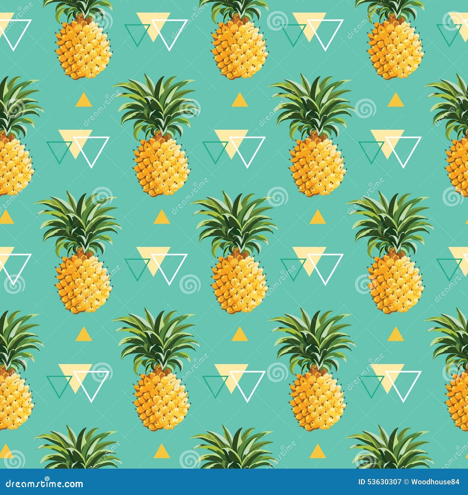 Geometric Pineapple Background Stock Vector - Image: 53630307
