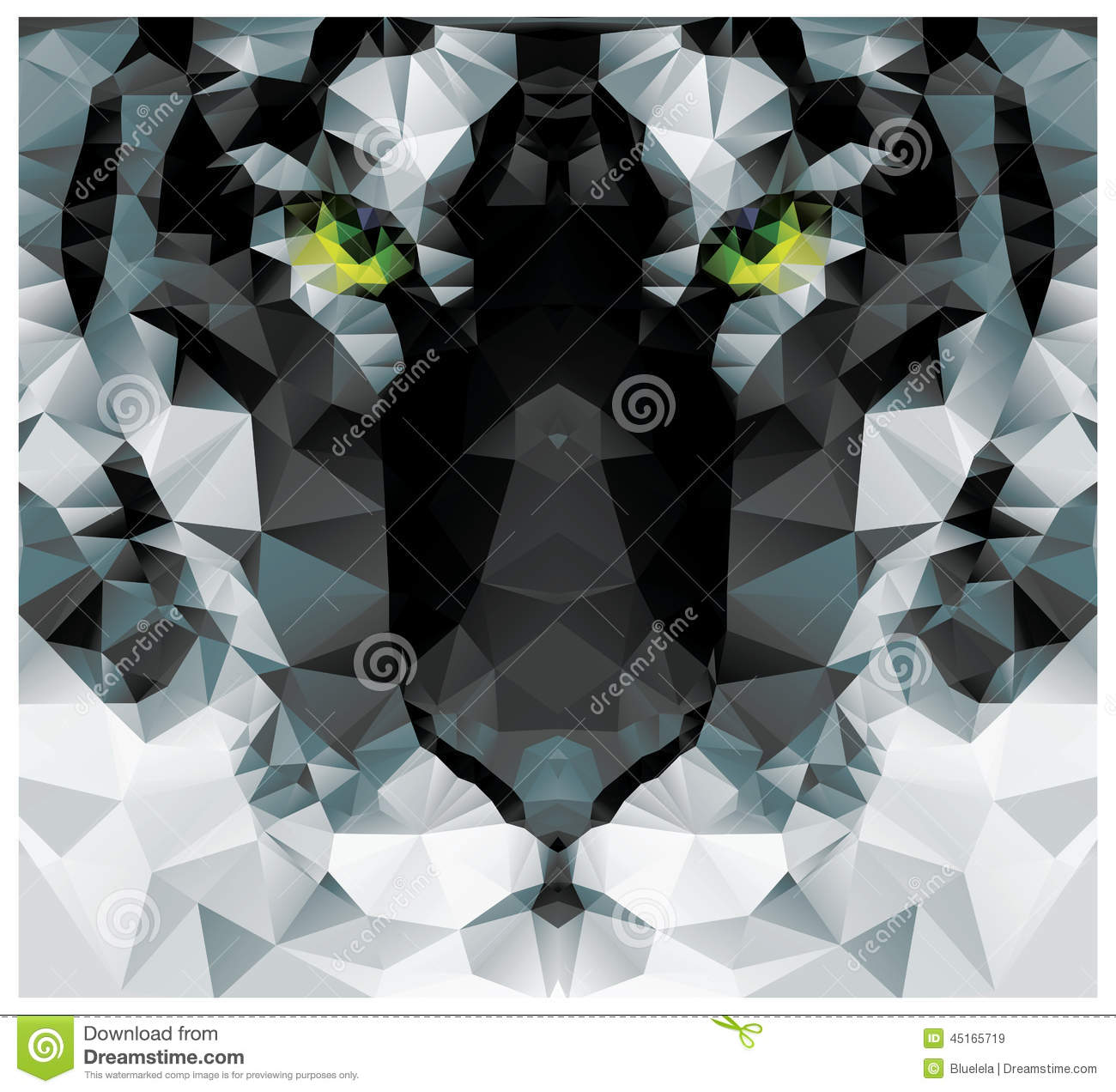 Tiger head triangular icon geometric trendy stock vector image - Geometric Polygon White Tiger Head Triangle Pattern Design Royalty Free Stock Images