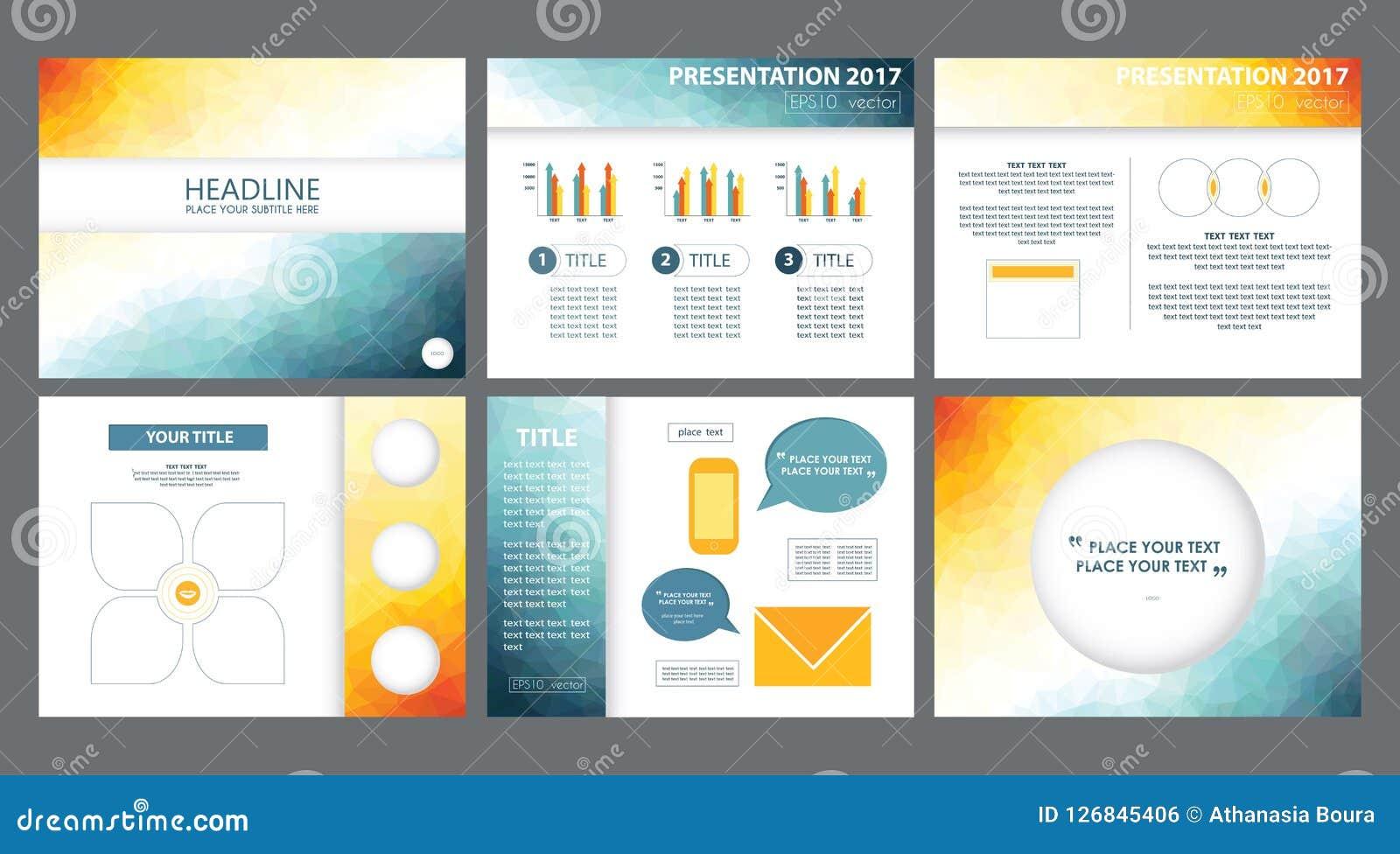 3d Yellow White Blue Powerpoint Presentation Templates