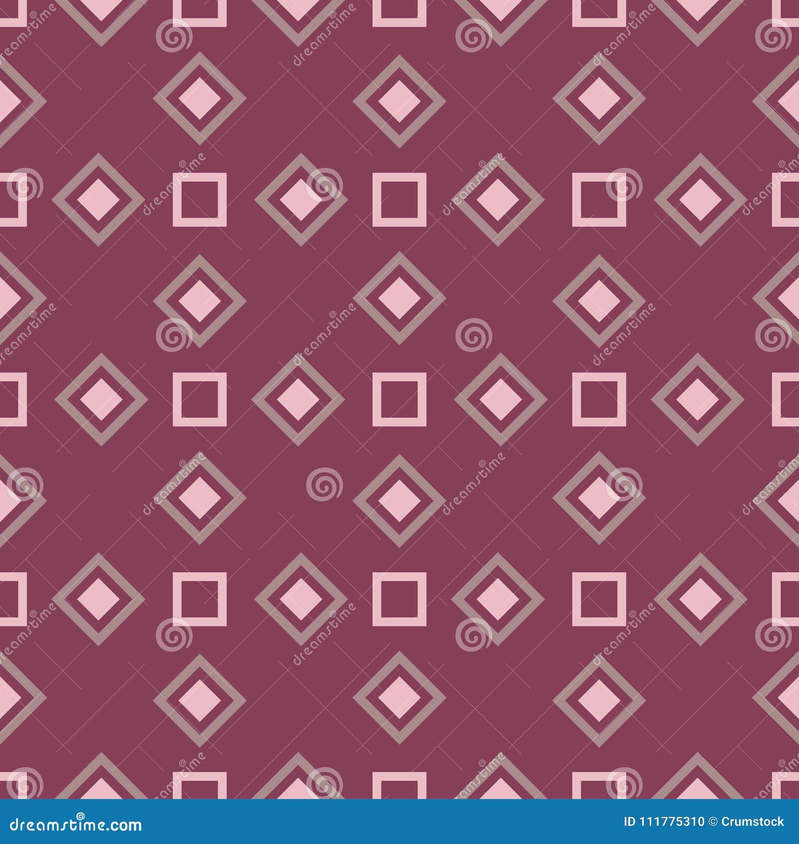 Geometric purple red seamless pattern
