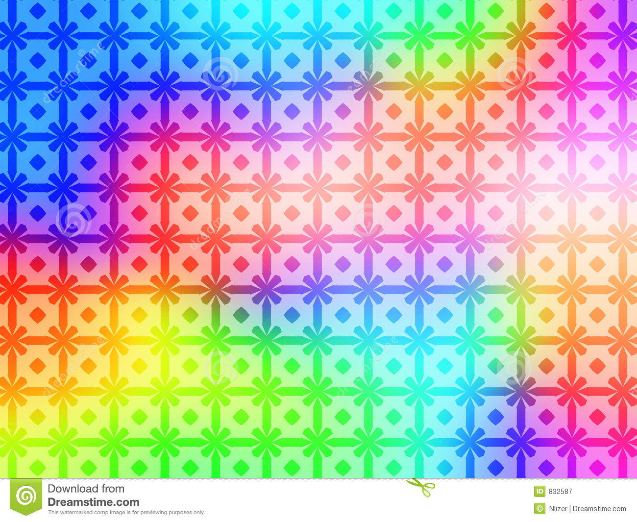 Geometric Rainbow Pattern Background Wallpaper Stock ...
