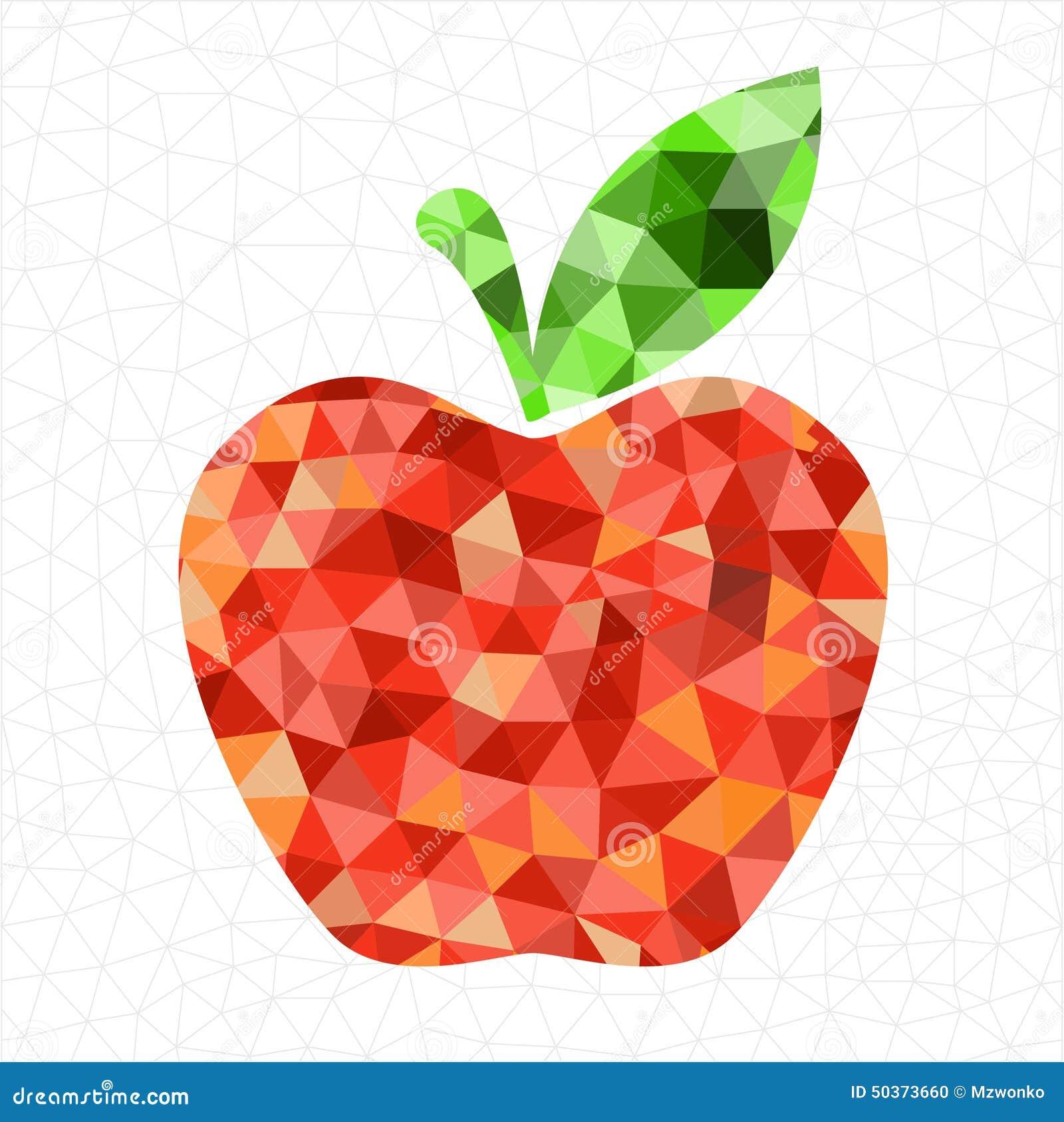 Beautiful Wallpaper Macbook Geometric - geometric-red-apple-abstract-triangled-background-pattern-50373660  Pic_928563.jpg
