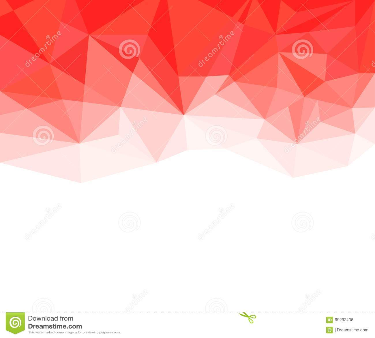 Geometric Red And White Abstract Vector Background For Use In Design Stock Vector Illustration Of Cover Pattern 99292436
