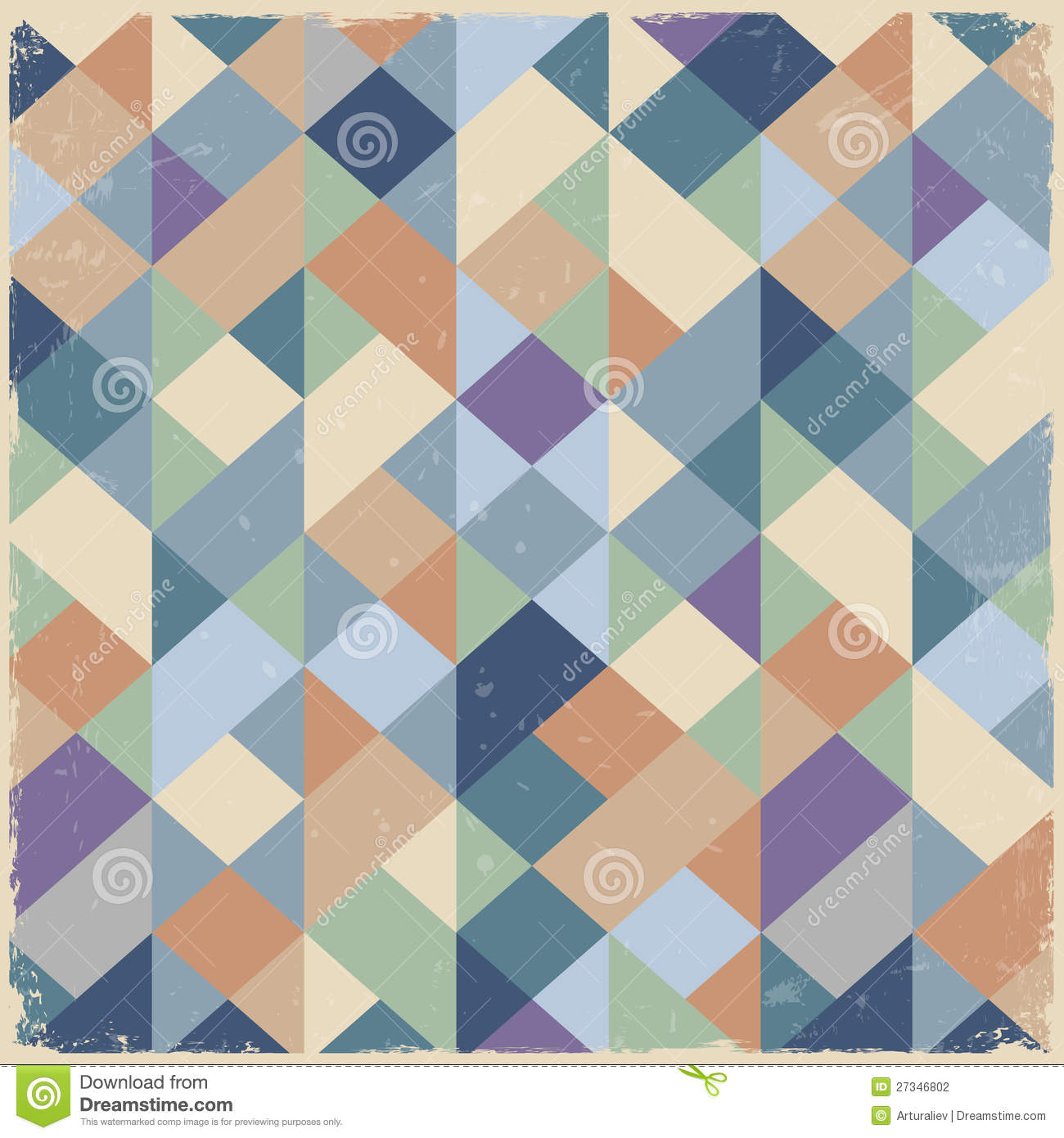 Geometric Retro Background In Pastel Colors Stock Vector ... Vintage Pastel Photography Background