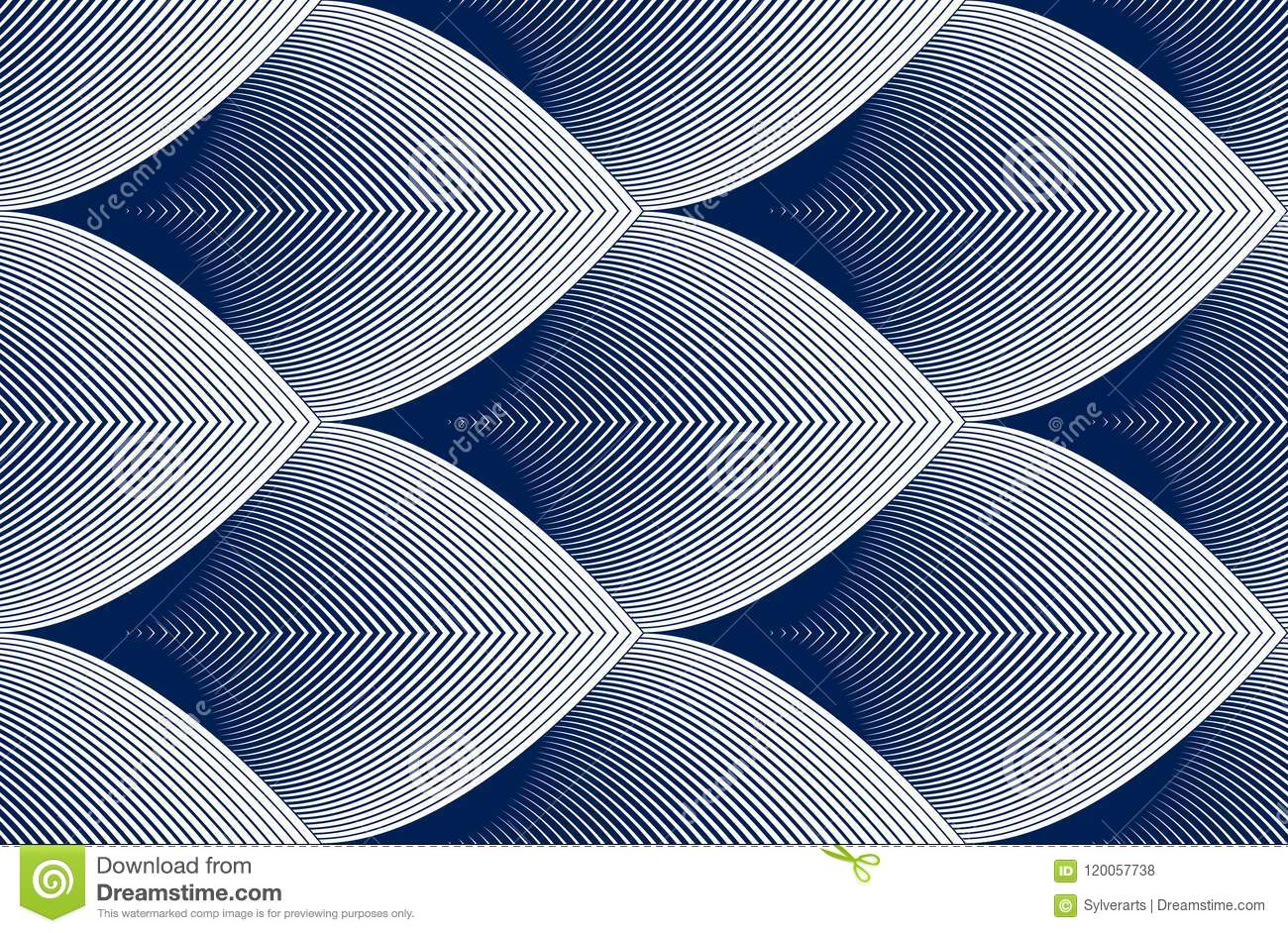 Geometric Seamless Pattern, Abstract Tiling Background, Vector R ...