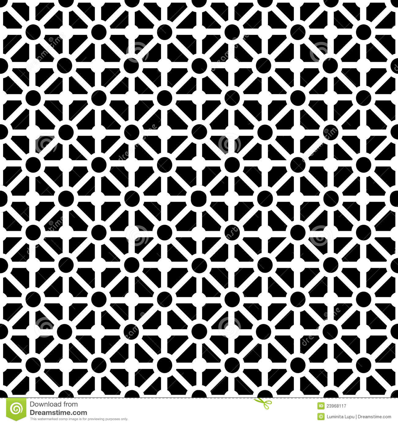 Draw A Floor Plan To Scale Geometric Seamless Pattern In Black And White Royalty Free
