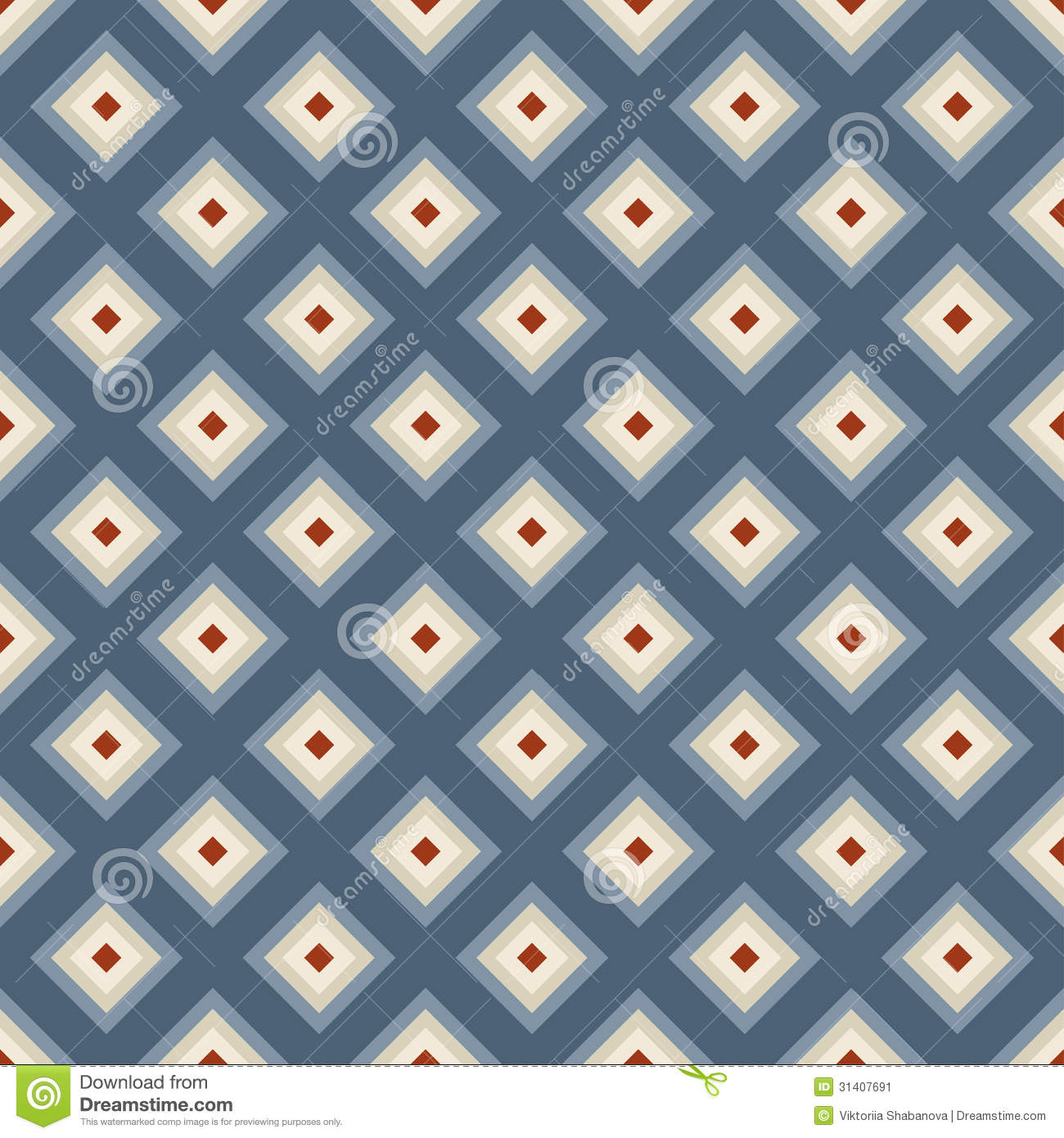 geometric seamless pattern in retro style stock vector. Black Bedroom Furniture Sets. Home Design Ideas