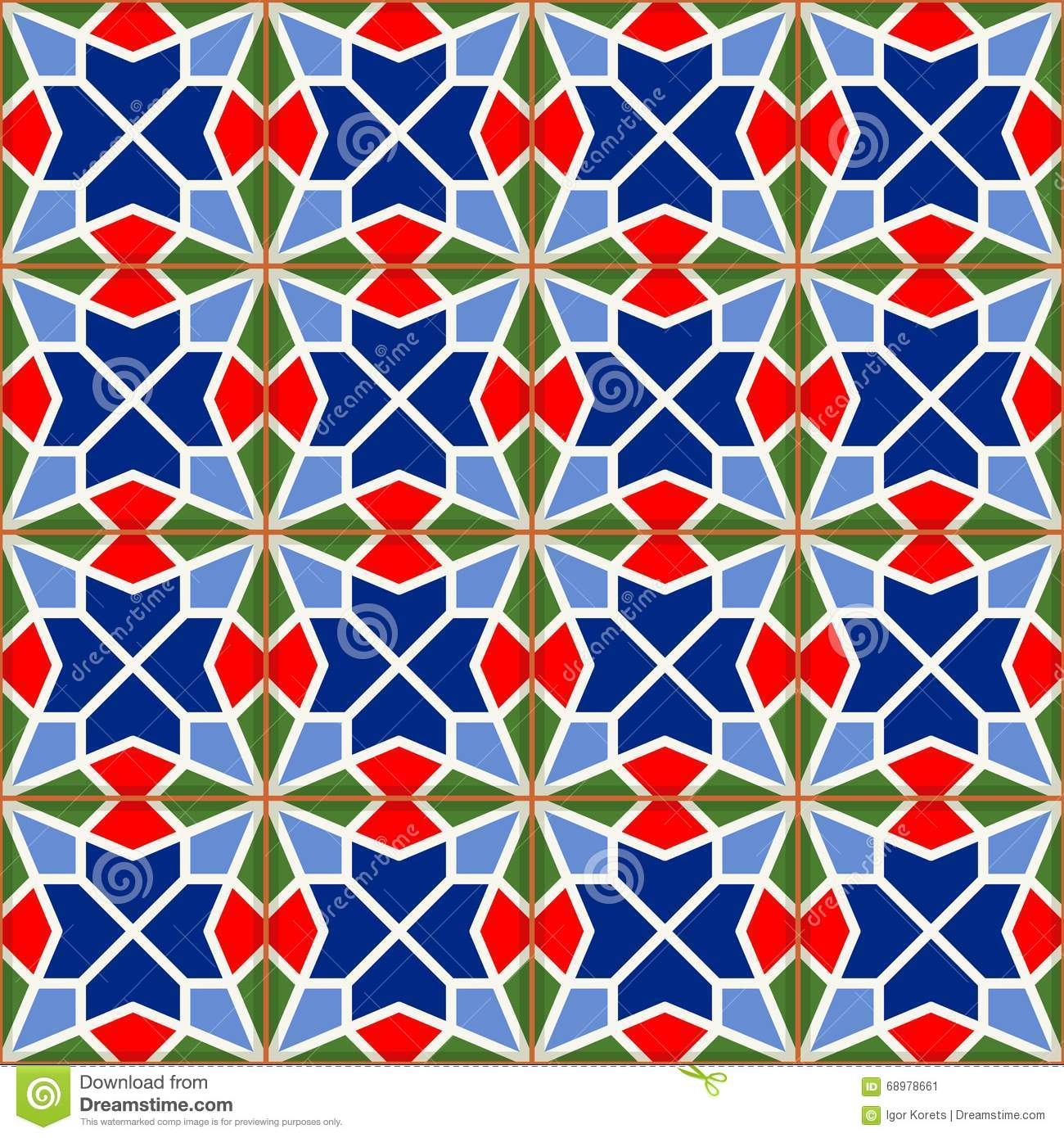 Geometric Seamless Pattern White Turkish Moroccan