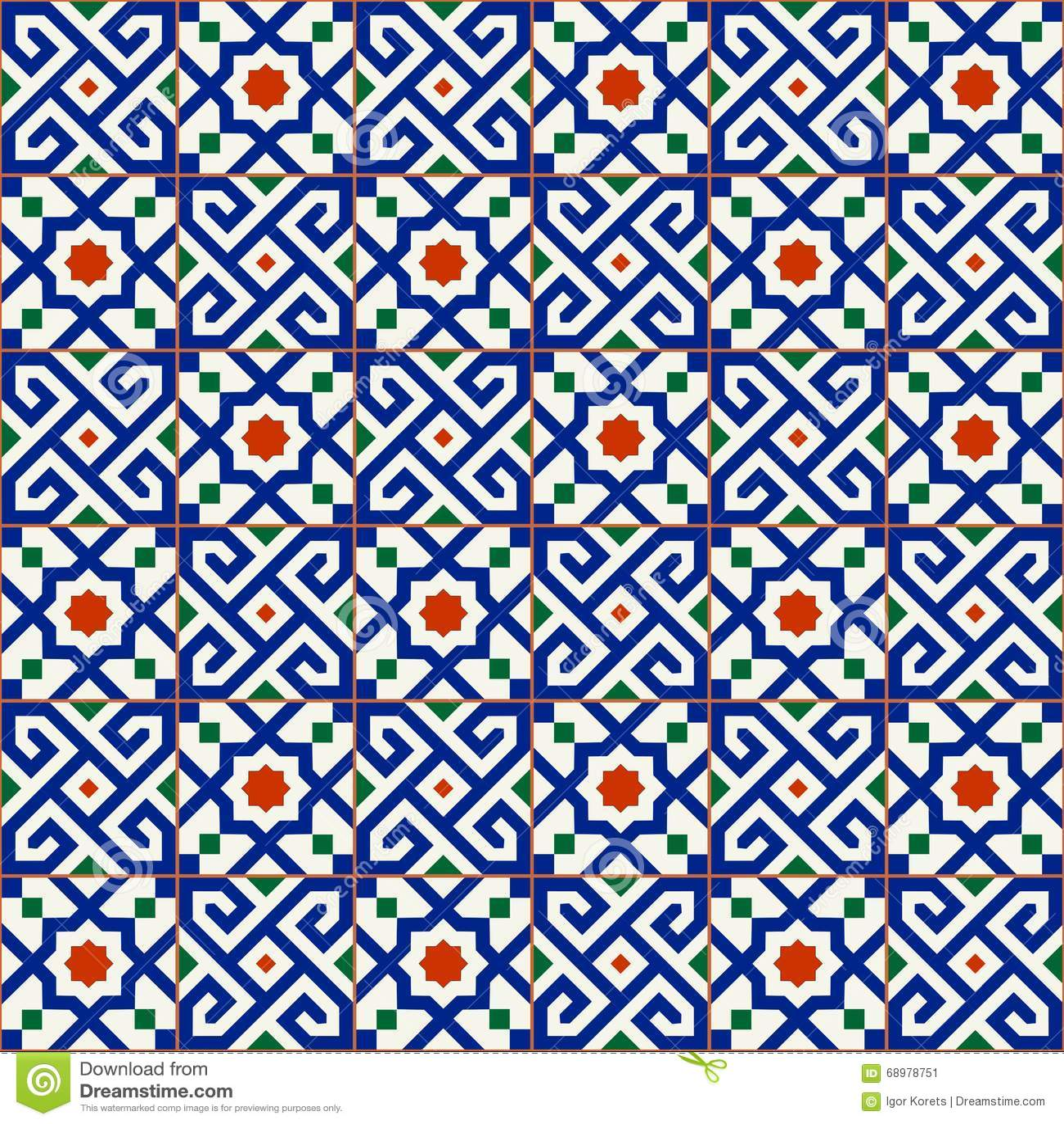 Geometric Seamless Pattern White Turkish Moroccan