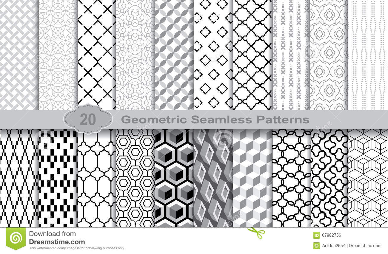 Geometric Seamless Patterns., pattern swatches included for illustrator user, pattern swatches included in file