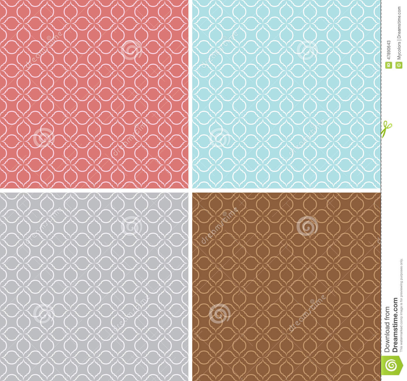 Geometric seamless patterns - vector backgrounds