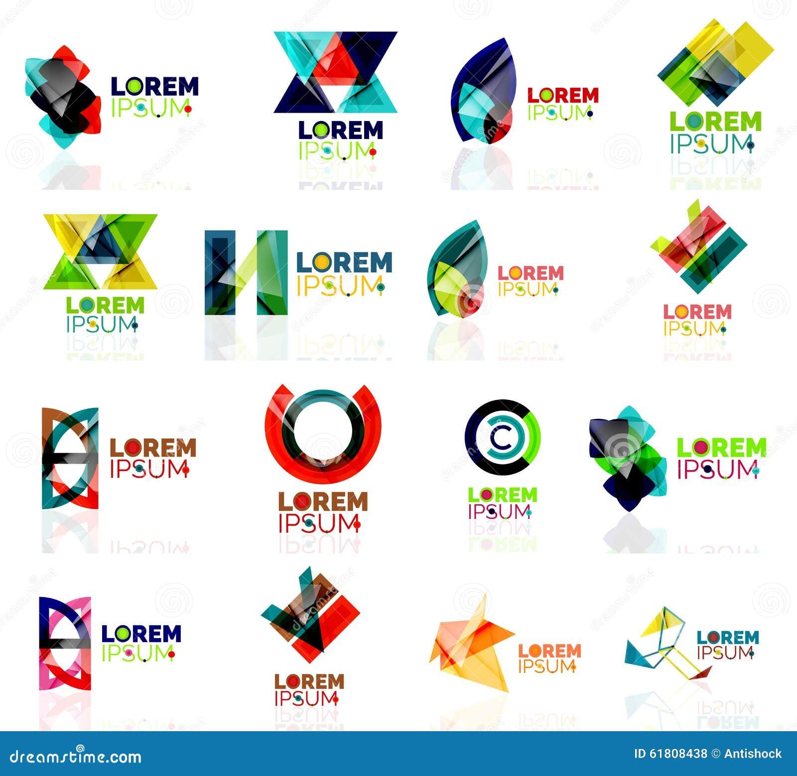 Geometric Shapes Company Logo Set, Paper Origami Stock ... - photo#11