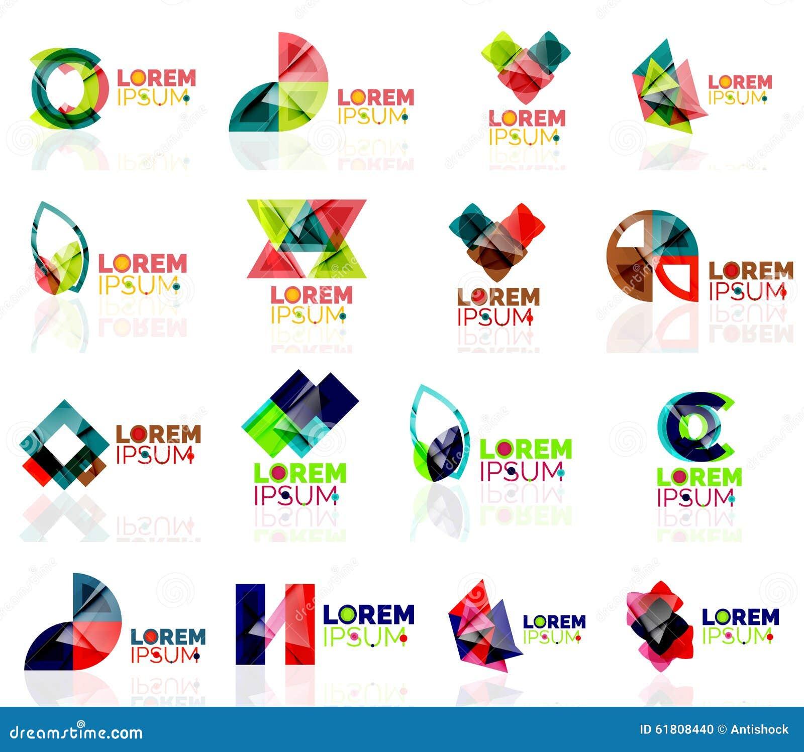 Geometric Shapes Company Logo Set, Paper Origami Stock ... - photo#14