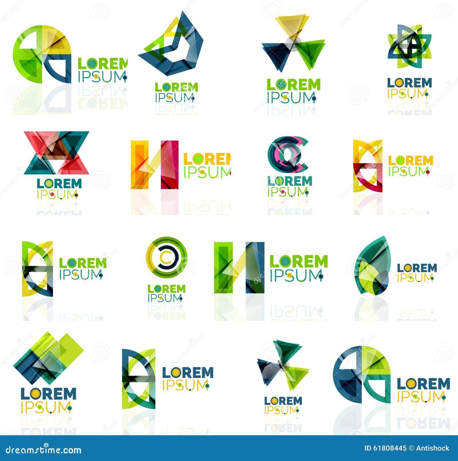 Geometric Shapes Company Logo Set, Paper Origami Stock ... - photo#12