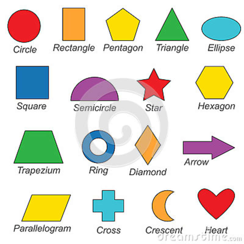 Geometric Shapes And Forms Set, The Collection Of Coloring Book ...