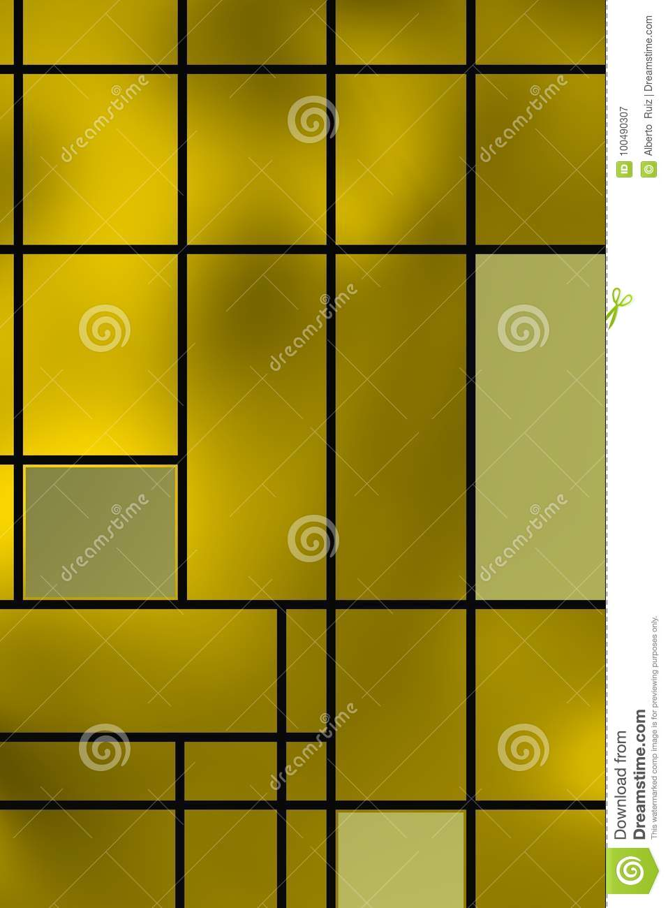Geometric Shapes Over Yellowish Backlight. Stock Image - Image of ...
