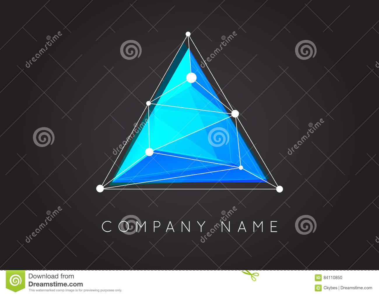 Geometric Shapes Unusual and Abstract Vector Logo. Polygonal Co