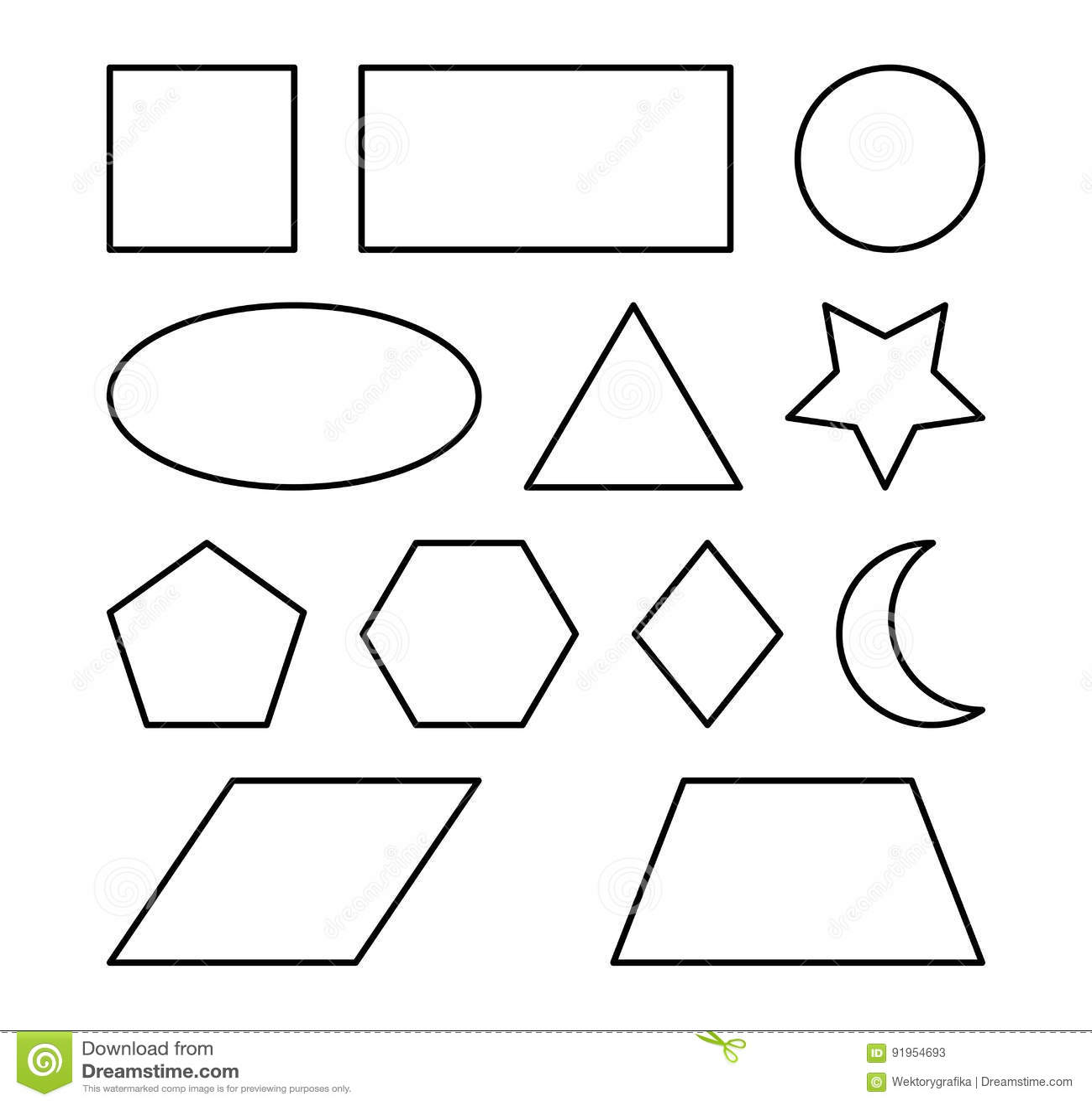 Geometric Shapes Vector Symbol Icon Design  Stock Vector