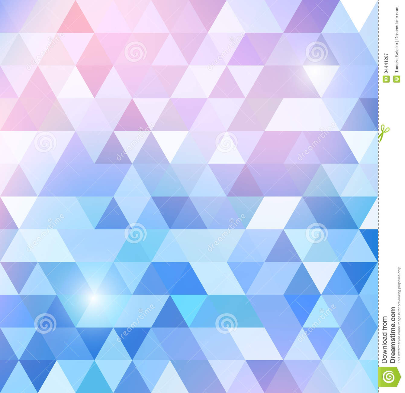 Geometric Shining Pattern With Triangles Royalty Free