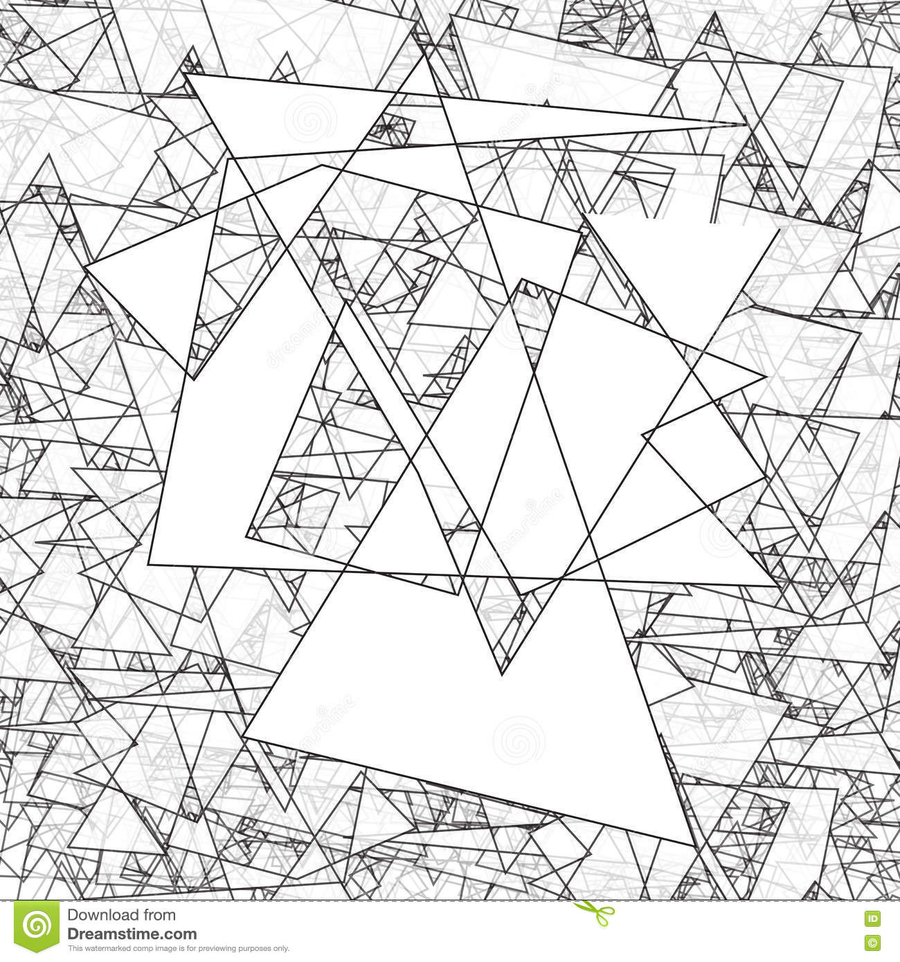 Geometric Simple Black And White Minimalistic Pattern